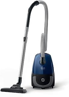 Philips Aspirador con Bolsa FC8240/09, 750 W, 3 litros, 77 Decibelios, Acero Inoxidable, Negro, Azul