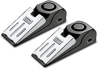 EMDMAK Door Stop Alarm with 120 dB. Siren Door Stopper for Home and Travel Black 2 Piece