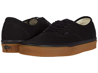 Vans Authentictm ((12 oz Canvas) Black/Gum) Skate Shoes