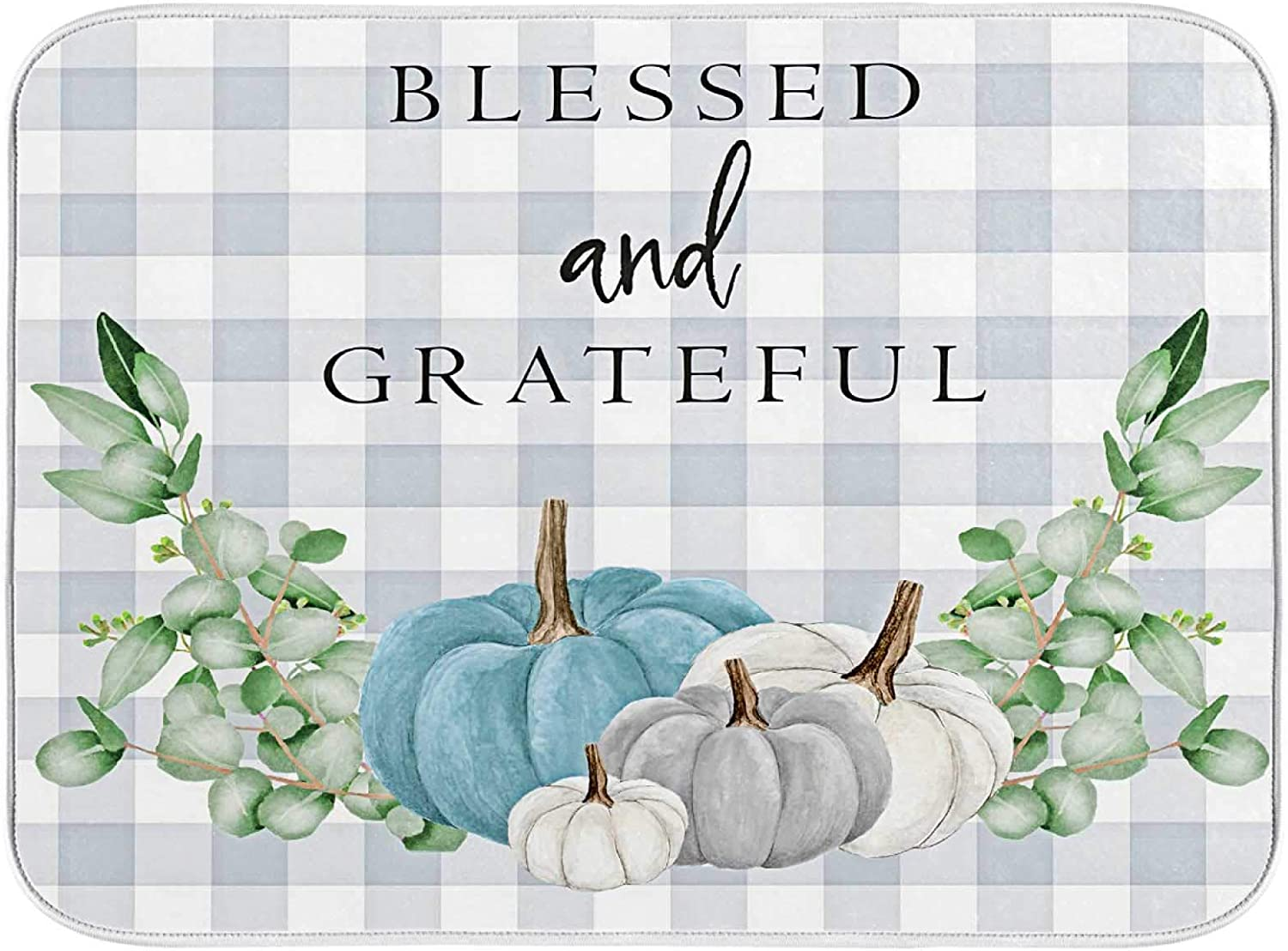 Blessed And Grateful 67% OFF of fixed Luxury price Kitchen Drying Dish Mat Pa Absorbent