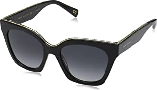 Marc Jacobs Women's Marc162s Square Sunglasses, Black/Dark Gray Gradient, 52 mm (MARC 162/S 9O 807 52 807)