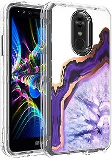 LG Stylo 4 Case, BAISRKE Purple Marble Agate Chrome Design Heavy Duty Hybrid 3-Layer Full-Body Protect Clear Soft TPU & Hard Plastic Back Cover for LG Stylo 4 / LG Stylo 4 Plus/LG Q Stylus 4
