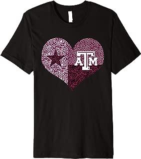 Texas A&M Aggies Texas Flag Heart T-Shirt - Apparel