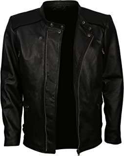 Leatherobe Mens Fast 8 Car Racing Vin Inspired Black Leather Jacket