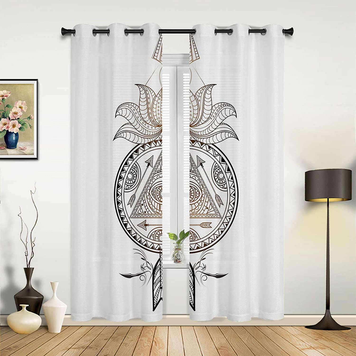 Beauty Sale SALE% OFF Decor Super sale period limited Window Sheer Curtains Living Retro Bedroom for Room