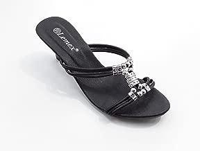 Lemex Black Slides Slipper For Women