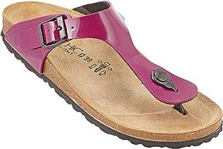 012-279 Biochic Ladies Sandals Patent Leather Dark Blue