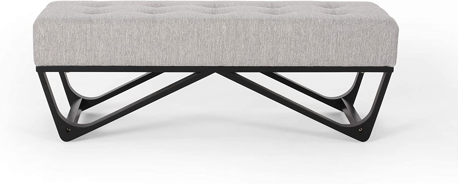 Great Sales results No. 1 Deal Furniture Shipping included Emily Contemporary Ottoman Li Fabric Bench