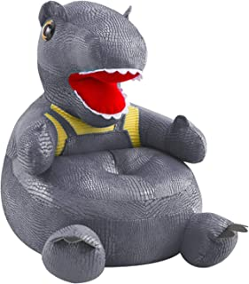 Canapé de Chaise d'enfants Canapé Dinosaure pour Enfants en Forme de Dessin animé Mignon Antidérapant Fond Doux en Tissu e...