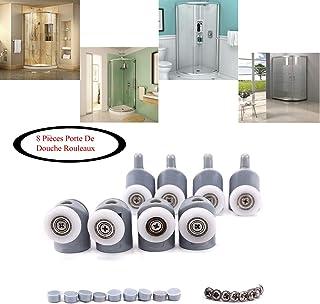 Puerta de ducha rodillos ruedas para puerta de ducha con ruedas, 4 x alto y 4 x bajo cuarto de baño, 23 mm: Amazon.es: Bricolaje y herramientas