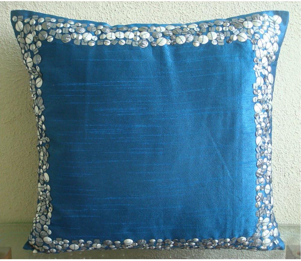The HomeCentric Decorative Royal Blue inc 26x26 Philadelphia Mall Euro Special sale item Pillowcases