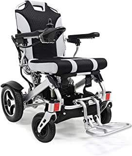 Silla de ruedas portátil de aleación de aluminio silla de ruedas eléctrica plegable eléctrica manual silla de ruedas scooter portátil silla de ruedas deportiva adecuada para ancianos discapacitados