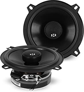 NVX 5 1/4 inch Professional Grade True 80 watt RMS 2-Way Coaxial Car Speakers [V-Series] with Silk Dome Tweeters, Set of 2... photo