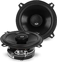 NVX 5 1/4 inch Professional Grade True 80 watt RMS 2-Way Coaxial Car Speakers [V-Series] with Silk Dome Tweeters, Set of 2 [VSP525]