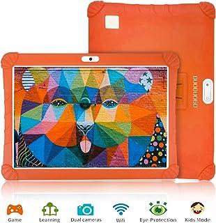 Tablet 10 Pulgadas 3GB de RAM 32GB/128GB de ROM Android 9.0 Certificado por Google GMS 4G Quad Core Full HD Tableta Batería de 8500mAh Dual SIM 8MP Cámara Tablet PC Netflix WiFi Bluetooth OTG,Naranja