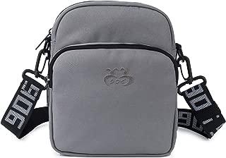 Fourguiren Lightweight Triple Pocket Crossbody Bag for Men Women Durable Unisex Water-repellent Nylon Pack…