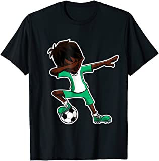 Dabbing Soccer Boy Nigeria Shirt, Nigerian Flag Jersey, Dab