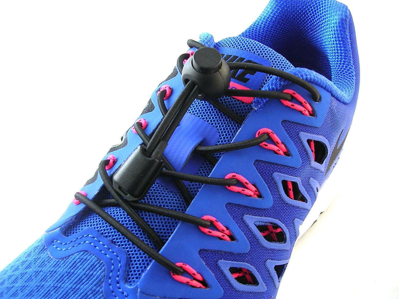 Fast Laces Cordones Elásticos Zapatillas Triatlón Running Ironman Negro 100 cm Correr Gimnasio Lock Laces: Amazon.es: Deportes y aire libre