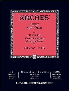 Arches 1795109 Oil PAD 140LB 12X1612, Multicolor