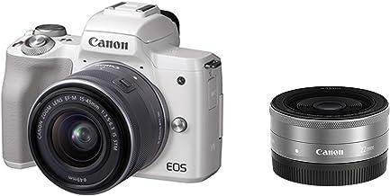 Canon ミラーレス一眼カメラ EOS Kiss M ダブルレンズキット ホワイト EOSKISSMWH-WLK