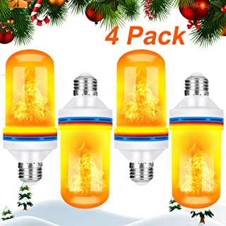 TOMTOO LED Flame Effect Light Bulbs - 4 Modes with Upside Down Effect - Christmas E26 Base LED Flame Light Bulbs Decorative Lights for Bar/Hotal/Indoor&Outdoor Decorations