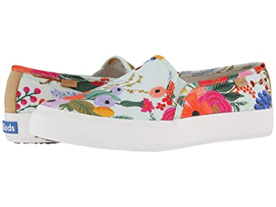 Keds x Rifle Paper Co. Double Decker Garden Party (Aqua) Women