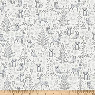 Andover Makower UK Scandi 2019 Forest Animals Silver Fabric Fabric by the Yard