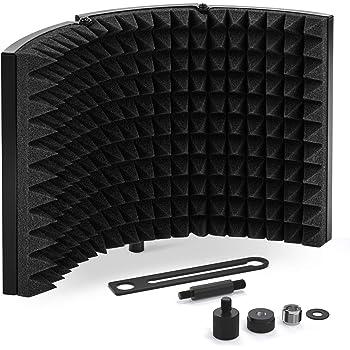 Tonor Sound Shield per Microfono con Isolamento Assorbente Mic Riflettore in Schiuma Fonoassorbente per Qualsiasi Microfono a Condensatore Recording Equipment Studio
