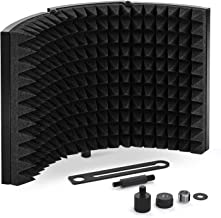 TONOR Microphone Isolation Shield, Studio Mic Sound Absorbing Foam Reflector for Any Condenser Microphone Recording Equipm...