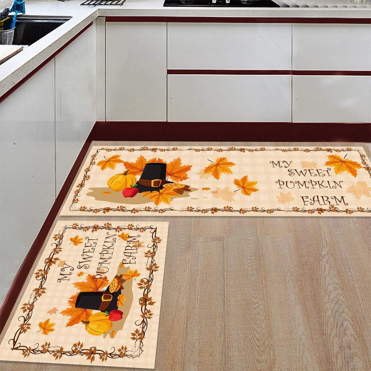 Kitchen Mat Set Anti-WearNon-Slip Floor Pieces Memphis Mall Rug OFFer Microf 2