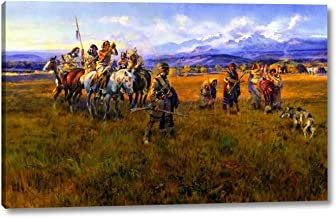 Lewis and Clark Reach Shoshone Camp Led by Sacajawea The Bird Woman by Charles Marion Russell - 14