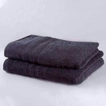 microfibra, 1 toalla de ba/ño y 1 toalla de mano Basics Juego de toallas de viaje y deporte