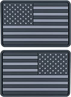 Helikon-Tex USA Small PVC Subdued Flag Patches (Set of 2) Gray