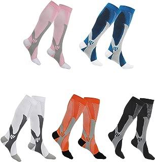 SherryDC Compression Socks for Women & Men, Best for Running, Athletic, Nursing, Pregnancy, Flight Travel, Crossfit