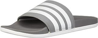 adidas  Men's Adilette Comfort Slide Sandal, Grey/Grey/Grey, 15 M US