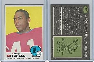 1969 Topps Football, 183 Leroy Mitchell, Boston Patriots