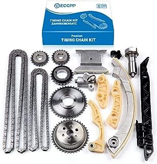 ECCPP 94201S Timing Chain Kit Tensioner Guide Rail Crank Sprocket Shaft Sprocket Replacement for Chevrolet Malibu 8-13 Equinox 10-15 Buick L4 2.0L 2.2L 2.4L