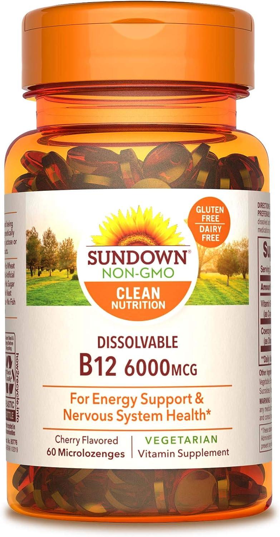 Vitamin New popularity B-12 High quality Sublingual by Vegetarian Non-GMOË Vegan Sundown