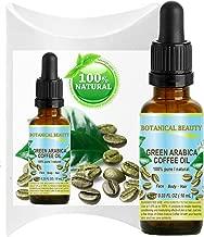 GREEN ARABICA COFFEE OIL Brazilian. 0.33 Fl.oz- 10 ml. 100% Pure / Premium Quality. For Skin, Hair, Lip and Nail Care.