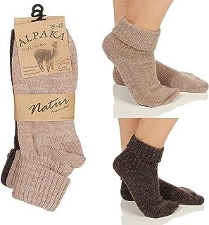 Alpaca Hombres Mujeres Calcetines, Extra Cálido Calcetines de Invierno, Calcetines de Lana Calcetines de Invierno Natural 17