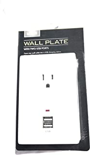 LIVING SOLUTIONS Wall Plate with 2 USB Ports Cell Charger