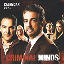 """Criminal Minds: 2021 Wall Calendar - Large 8.5"""" x 17"""" When Open - 12 Months"""
