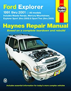 Ford Explorer & Mazda Navajo (91-01), Mercury Mountaineer (97-01), Explorer Sport (00-03), & Explorer Sport Trac (01-05) Haynes Repair Manual