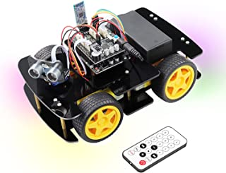 Freenove 4WD Car Kit (Compatible with Arduino IDE), Line Tracking, Obstacle Avoidance, Ultrasonic Sensor, Bluetooth IR Wir...