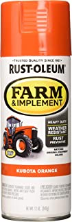 Rust-Oleum RUSTOLEUM 280142 Kubota Orange 12 oz. Farm & Implement Spray Paint