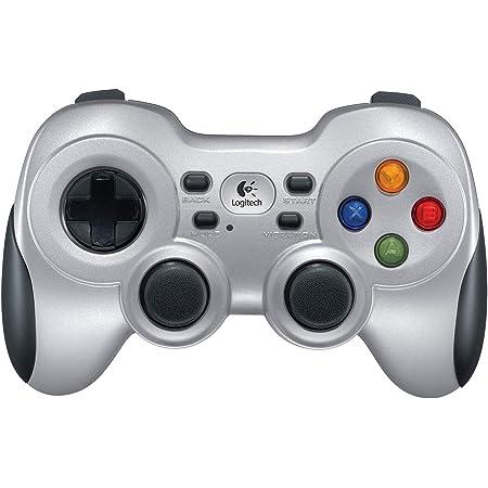 Logitech F710 Gamepad Inalámbrico, 2,4 GHz con Nano-Receptor USB, Distribución de Botones Clásica, Doble Efecto de Vibración, Mando de Dirección 4 Conmutadores, PC - Gris/Negro