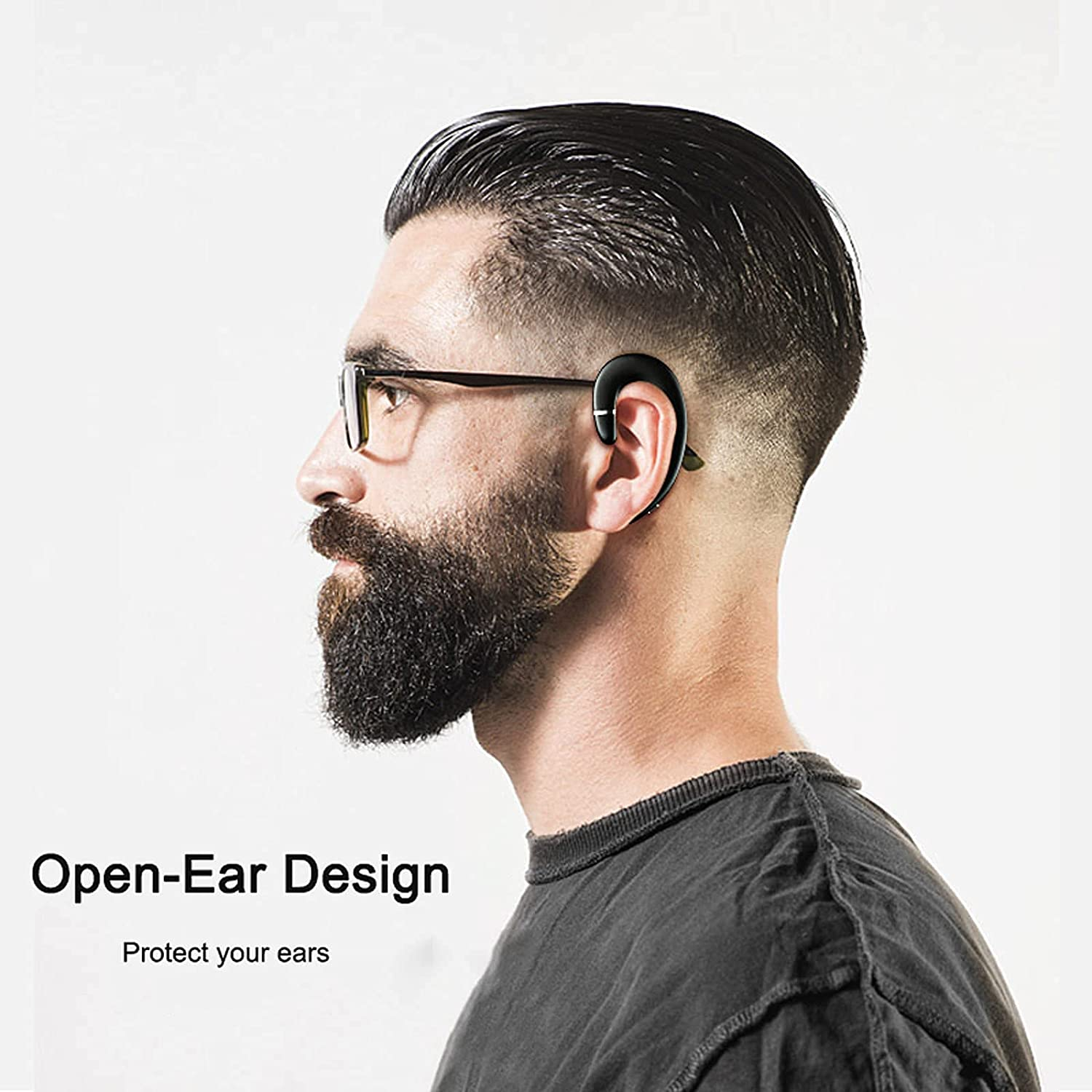 Air Conduction Headphones Wireless Swimming IPX5 Waterproof Bluetooth Open Ear Headphones with Microphone Workout Running Sport Gym