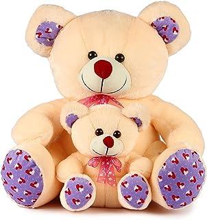 Srt Mother Baby Soft Toy Teddy Bear 35Cm