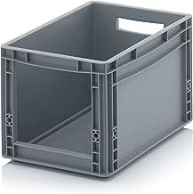 Euro Sichtlagerkasten 40 x 30 x 27 cm inkl. gratis Zollstock * Eurobehälter mit Fenster