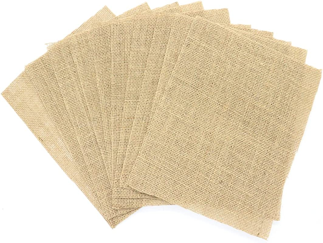 HUELE 9 84 X 7 87 Inch Placemat Table Mats Burlap For Wedding 10pcs